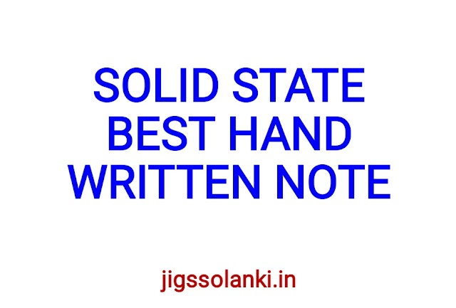 SOLID STATE BEST HAND WRITTEN NOTE