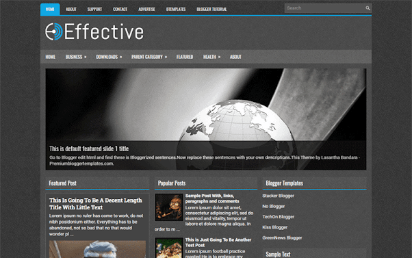 Effective Free Blogger Template
