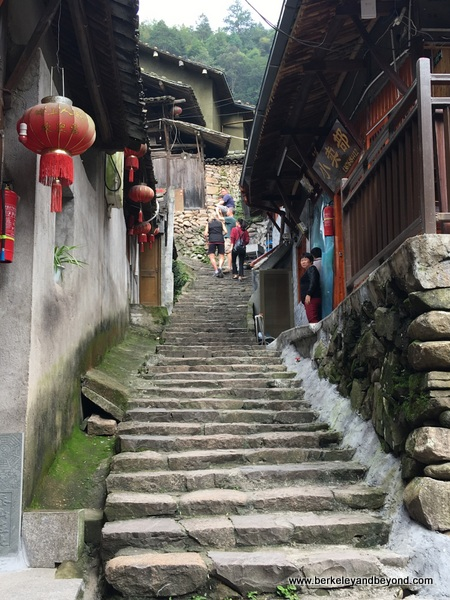 stairway path in Lingshang Renjia village in Zhejiang Province, Wenzhou, China