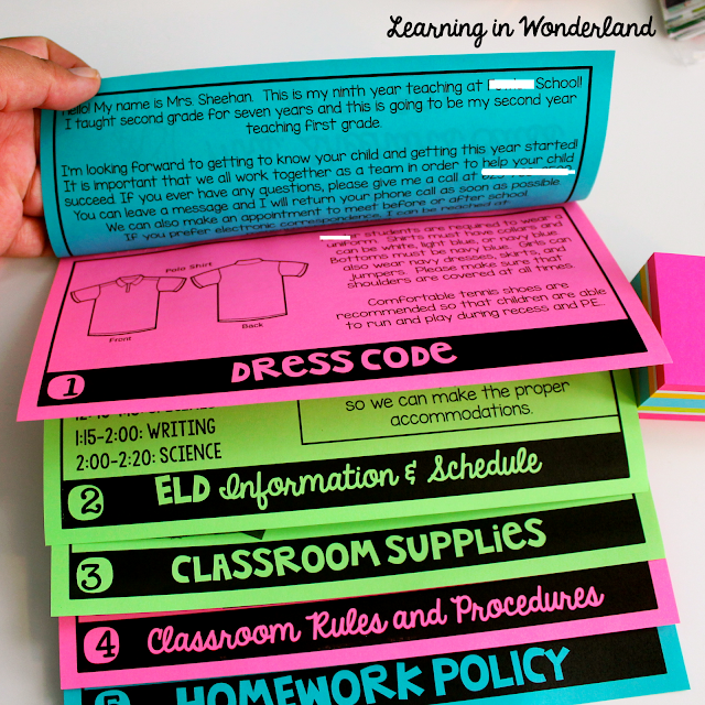 Post loaded with ideas to include in your back-to-school flip book!