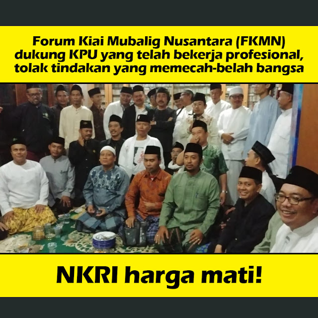 Forum Kiai dan Mubaligh Nusantara Tolak People Power