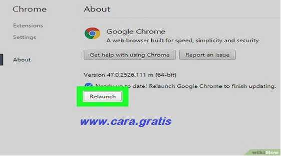 Relaunch Google Chrome