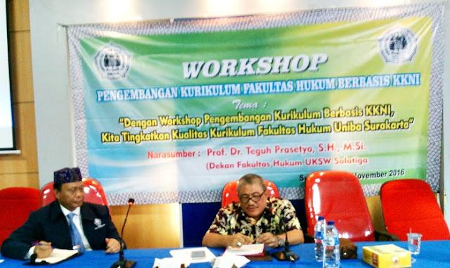 Fakultas Hukum UNIBA Gelar Workshop Kurikulum Berbasis KKNI