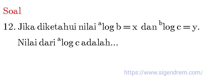 Contoh soal dan pembahasan Logaritma sma, soal logaritma
