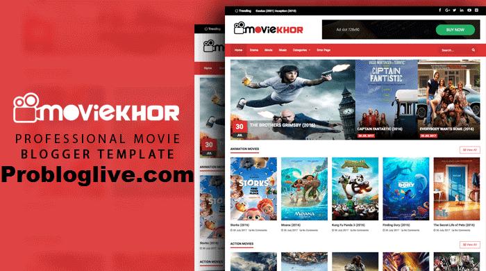 MovieKhor Movie Blogger Template Free Download - Probloglive