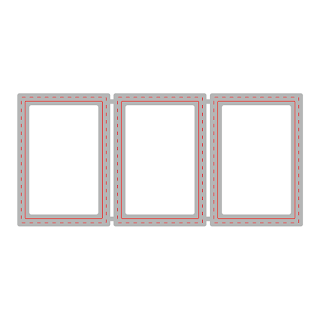 RECTANGLE WINDOWS TRIO | HONEY CUTS