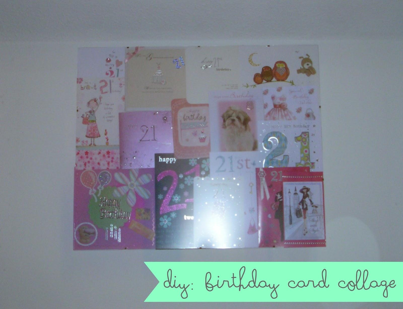 DIY Birthday Card Collage