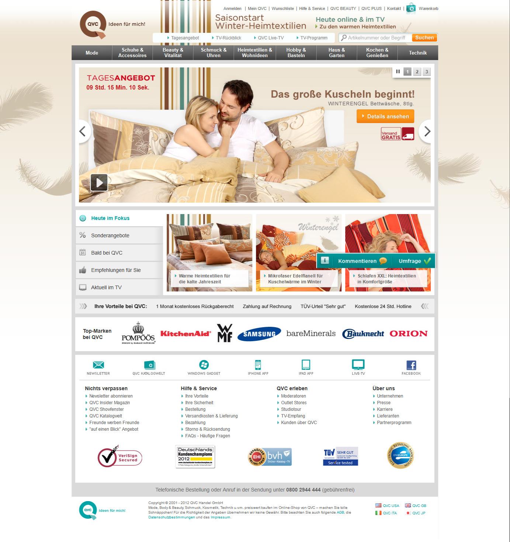 qvc online shop deutschland. Black Bedroom Furniture Sets. Home Design Ideas