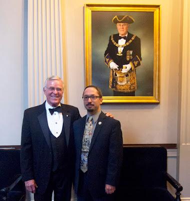 M.W. Richard J. Stewart and Travis Simpkins. Grand Lodge of Massachusetts