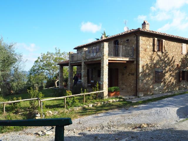Naše ubytování, víkend v Toskánsku, okolí Montalcino
