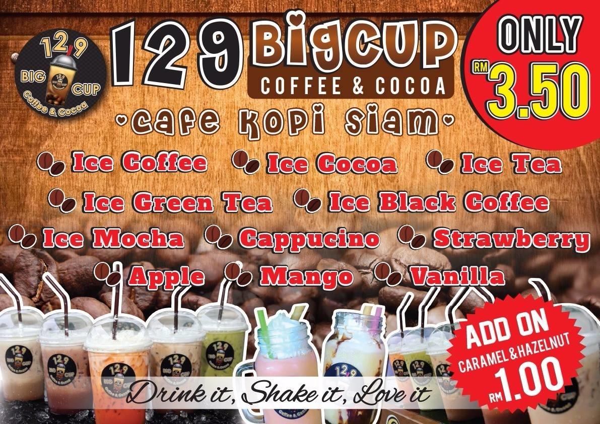zaza abdul latif  kopi siam di one two nine big cup  ampang