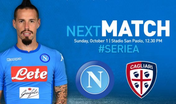NAPOLI-CAGLIARI Streaming Gratis: info Video YouTube, Diretta Facebook Live-Stream con iPhone Tablet PC