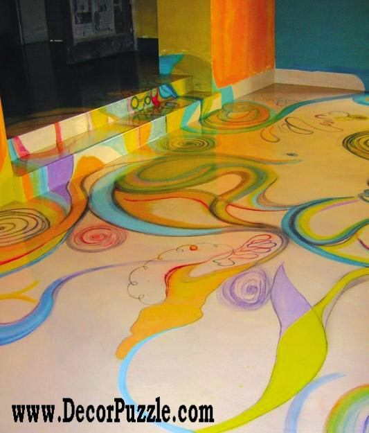 3d floor art pattern and self-leveling floor,3d flooring ideas