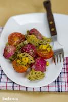 (salatka z pieczonymi rzodkiewkami