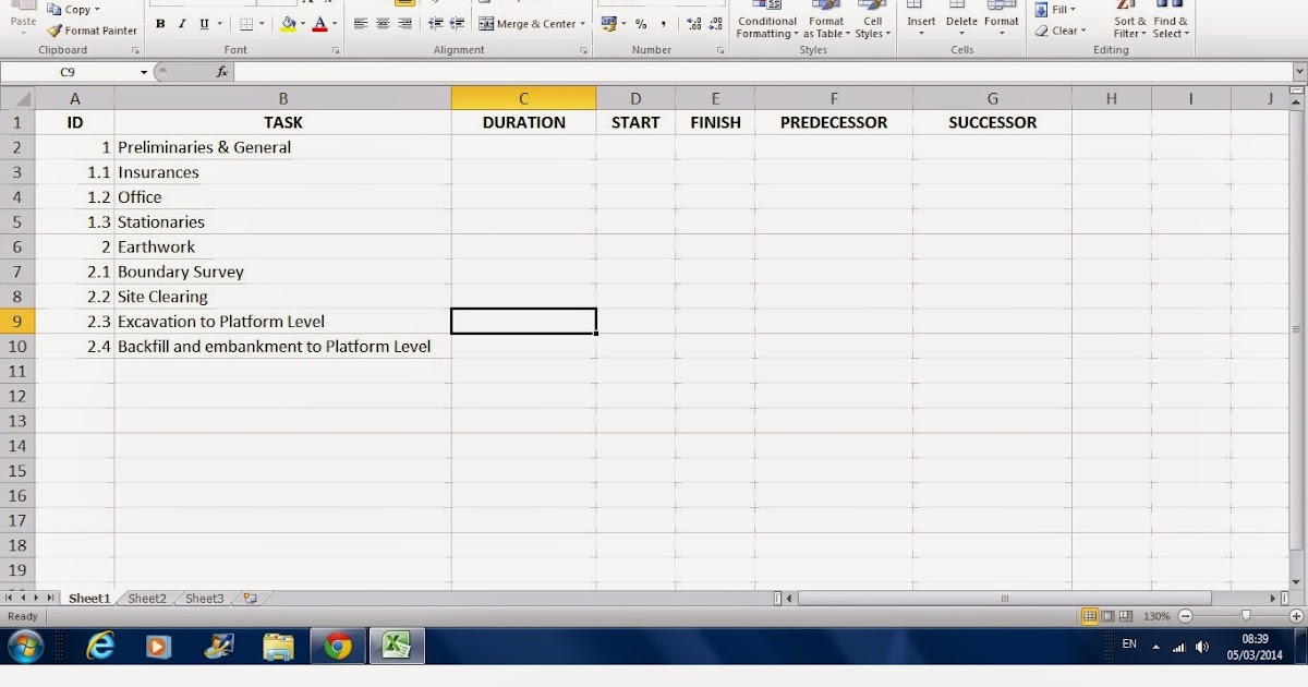 CONSTRUCTION MANAGER How to Create A Work program with Microsoft