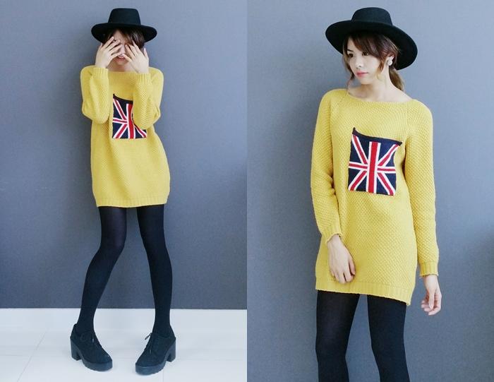 Yellow UK flag sweater