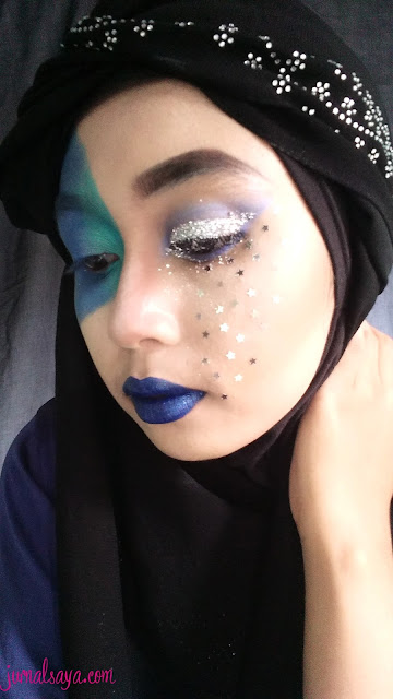 festive makeup tema water element inspired
