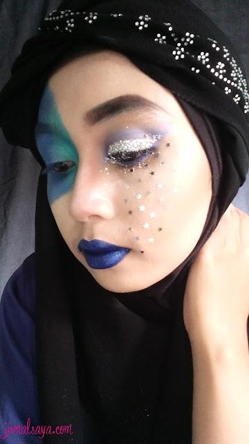 festive makeup tema water element inspired