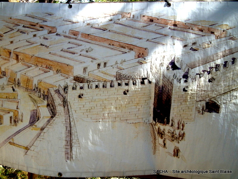 Un jour une photo site arch ologique saint blaise for Accessoire piscine st mitre les remparts