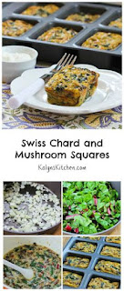 Swiss Chard and Mushroom Squares [from KalynsKitchen.com]