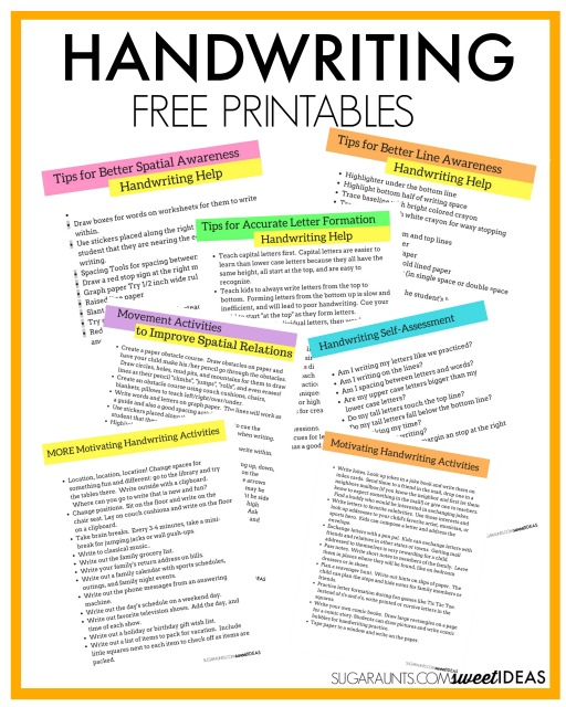 Handwriting Free Printables