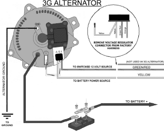 Ford alternator Wiring diagram internal regulator ~Circuit