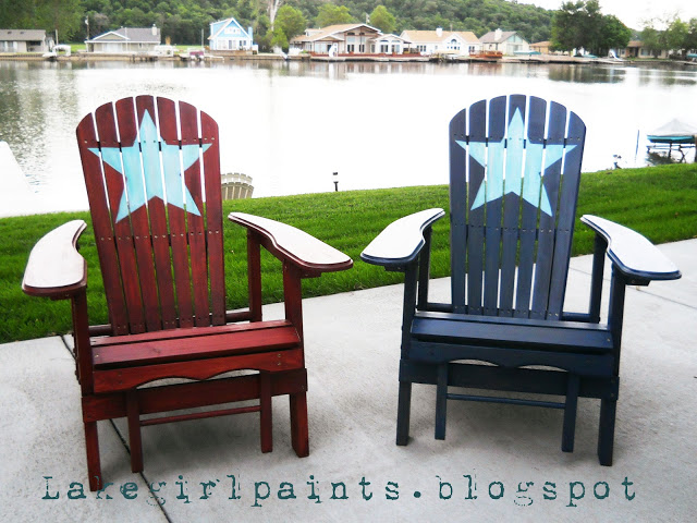 4th of july chairs, painted fourth of july chairs, flag chairs, fourth of july decor