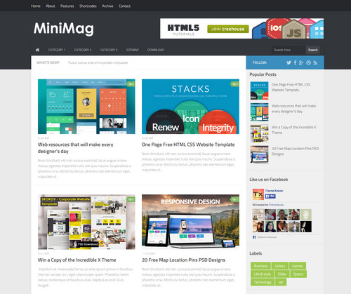 Mini Magazine Template