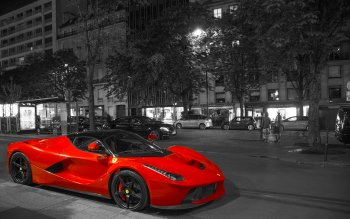 Wallpaper: Super Red Car: LaFerrari