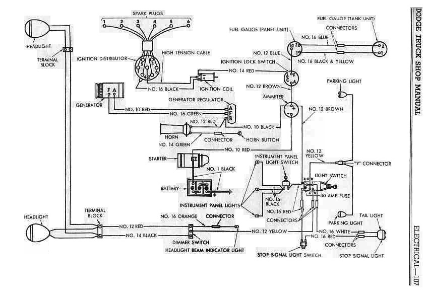 Dodge B 1 Power Wagon Wiring Diagram | All about Wiring