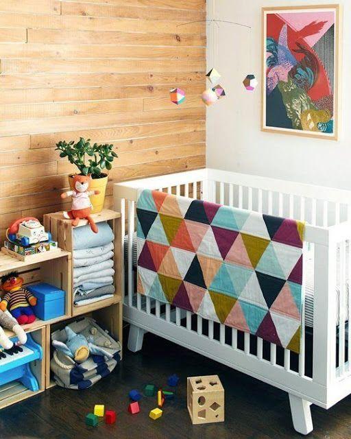 reutilizar caixotes de madeira quarto infantil