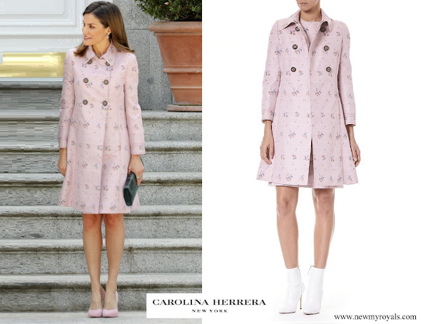Queen Letizia wore Carolina Herrera Coat