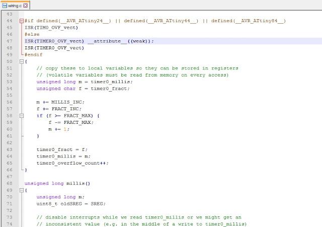 Перегрузка вектора прерывания TIM0_OVF_vect в Arduino IDE