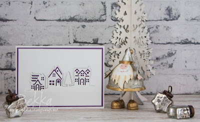 Fast & Fabulous Elegant Christmas Card..  Features Hometown Greetings from Stampin' Up! UK.   Buy everything you need to make this here