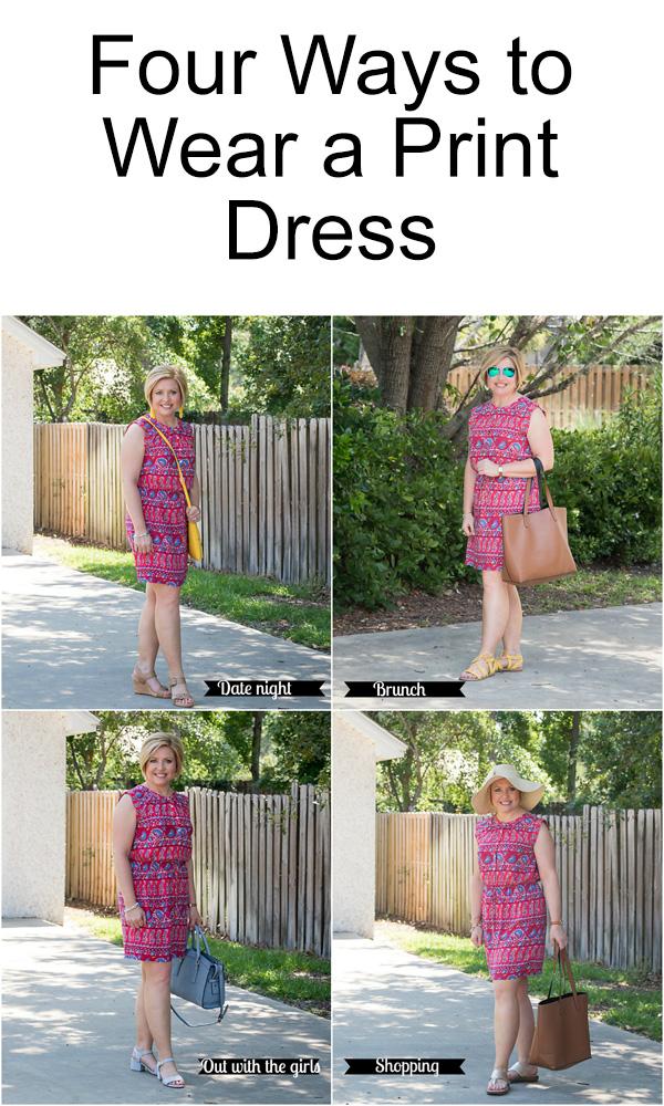 Four Ways to Wear a Print Dress