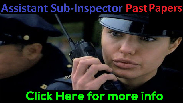 Assistant Sub Inspector Past Papers 2019