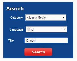 Aircel dialer tune search box