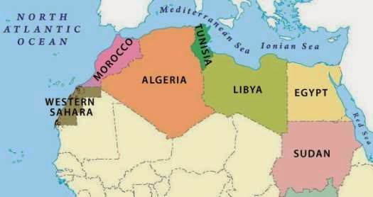 Political Map Of North Africa - Free Printable Maps