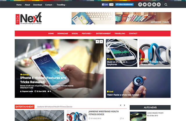 Technext is a free Blogger Template, showcases magazine style design with lots of features.                                                                                                                                                                                                                                                        http://blogger-templatees.blogspot.com