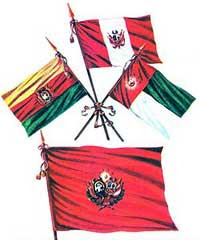 Banderas de la Confederación Peruano-Boliviana