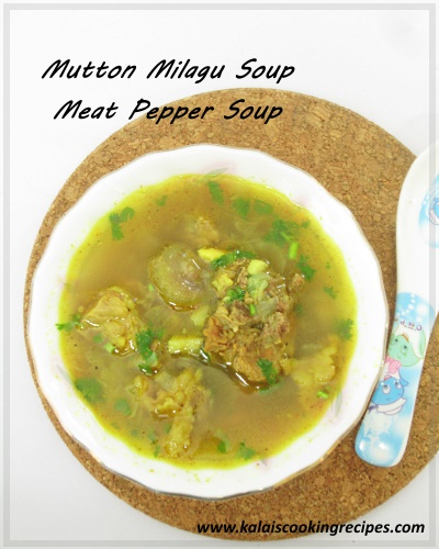 mutton milagu pepper soup