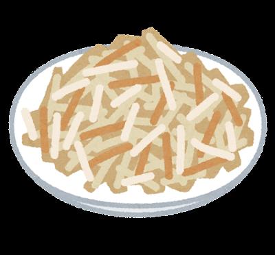 ごぼうサラダのイラスト