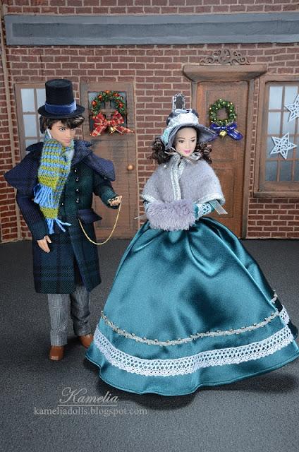 19th century fashion for Barbie dolls.
