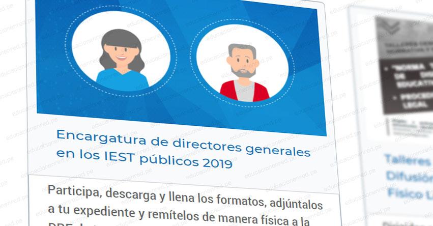 MINEDU: Encargatura de directores generales en los IEST públicos 2019 - www.minedu.gob.pe