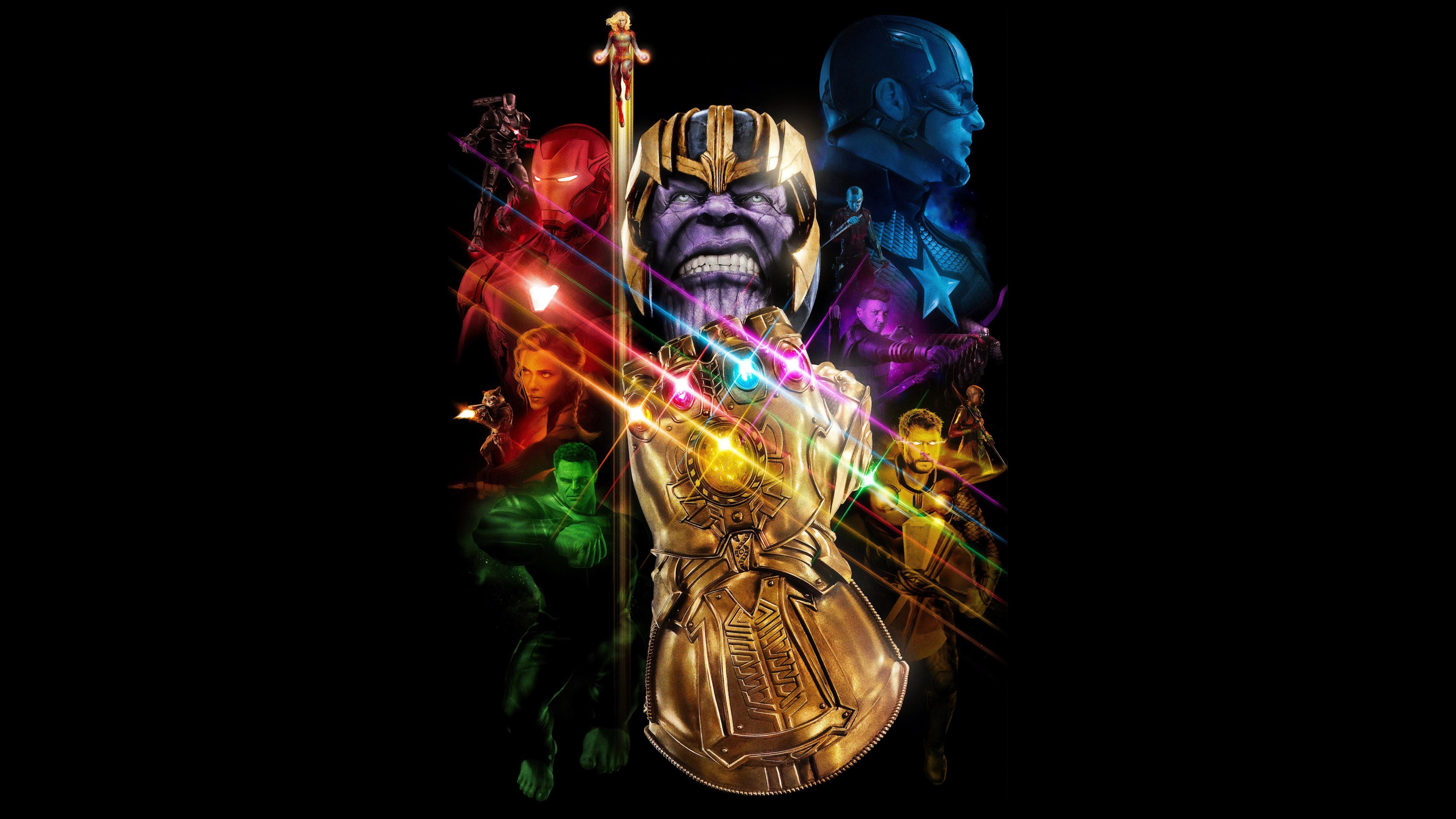 Avengers: Endgame, Thanos, Infinity Gauntlet, 4K, #142 ...