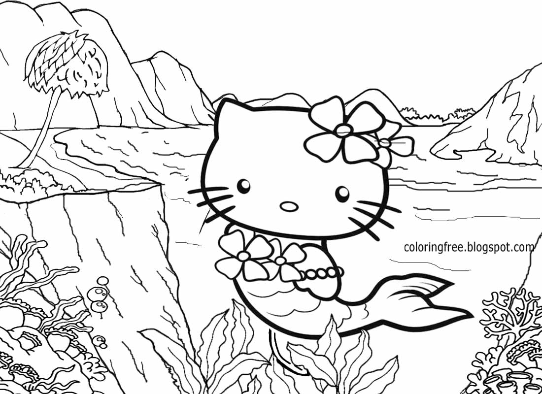 Free Coloring Pages Printable Pictures To Color Kids Hello Mermaid Coloring Pages