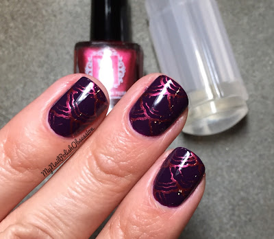Girly Bits Transparent Frosted Stamper & Firebrick Stamping Polish