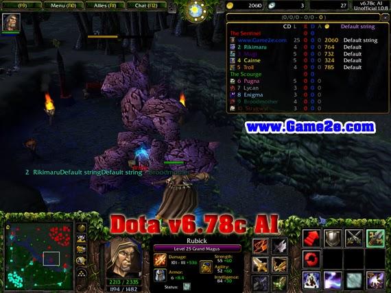 Map Dota v6 78c AI 1 0 8 Full download