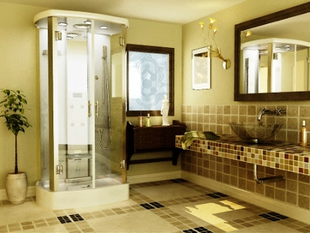 Bathroom Design Gallery on Unique Images Collection  Colorfull Tile Modern Bathroom Images