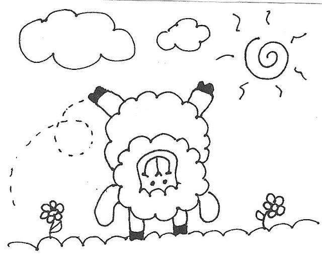 """Desenhos De Ovelha Para Imprimir E Colorir """"ovelinha"""""""